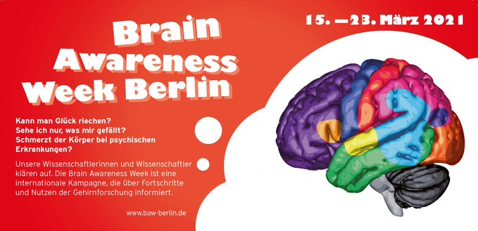 International Brain Awareness Week 2021, 15-23, March 2021